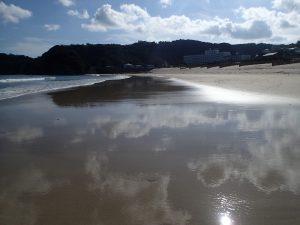 白浜のビーチ